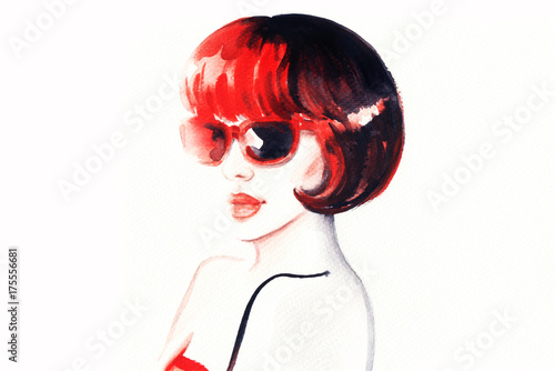 Fotobehang Anna I. Fashion illustration. Beautiful woman