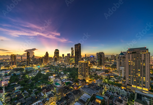 Staande foto Bangkok Bangkok Cityscape at Twilight Time