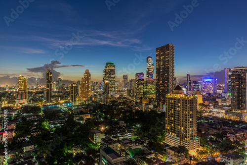 Deurstickers Bangkok Bangkok Cityscape at Twilight Time