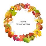 Vector Thanksgiving Card - 175562081
