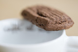 dried chocolate biscuits and coffee - 175562091