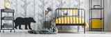 Child's bedroom with birch wallpaper - 175564675