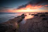 Beauty of dawn / Magnificent sunrise view at the Black sea coast, Bulgaria - 175574261