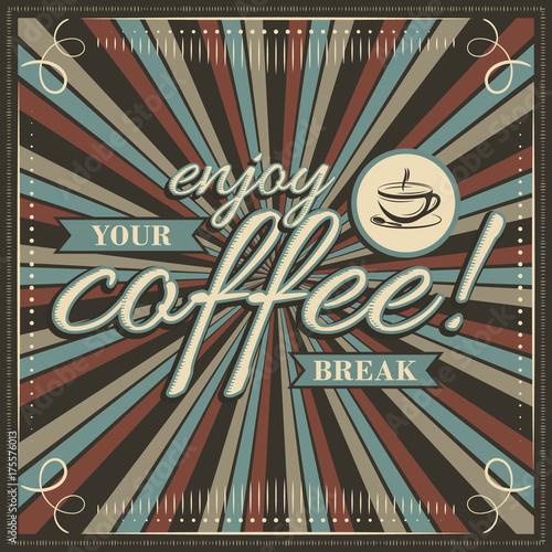 ciesz-sie-wektorowej-przerwy-na-kawe-vintage-ilustracji-filizanke-kawy-wstazki-i-ozdobne-ramki