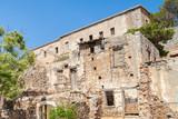 Ruins of the former leper colony. Island of Spinalonga (Kalydon), Crete, Greece - 175580690