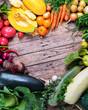 Assortment Fresh Organic Vegetables Frame Market