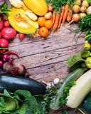 Assortment Fresh Organic Vegetables Frame Market - 175582827