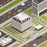 City Government Buildings Isometric Composition  - 175583047