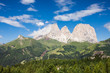 Quadro Dolomites Alps summer valley