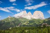 Dolomites Alps summer valley