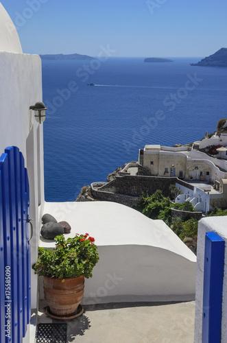 Foto op Canvas Santorini Jug