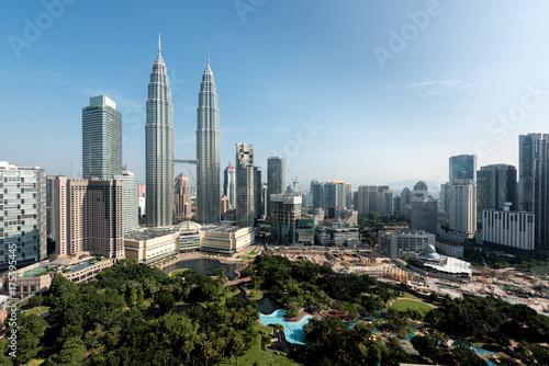Kuala Lumpur skyline and skyscraper in Malaysia Poster
