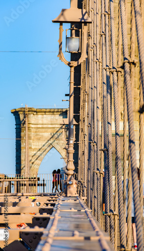 Fototapeta Brooklyn Bridge from another perspective, New York, USA