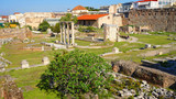Photo of ancient monument of Hadrian's Library, Monastiraki, Athens historic center, Attica, Greece