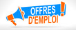 offres d'emploi sur mégaphone