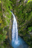 Waterfall in Austria from above