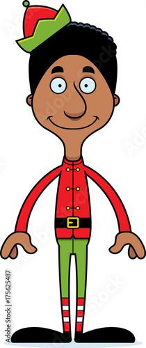 Cartoon Smiling Xmas Elf Man