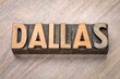 Dallas in vintage wood type