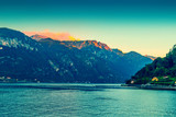 The Alps and Como lake in Italy. Lake Como landscape. - 175628635