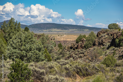 Spoed canvasdoek 2cm dik Blauw New Mexico Landscape
