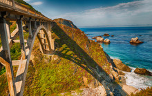 Beautiful view of Bixby Bridge in Big Sur, California