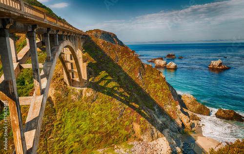 Fototapeta Beautiful view of Bixby Bridge in Big Sur, California