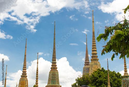 Pagodas at Wat Pho(Wat Phra Chetuphon Vimolmangklararm Rajwaramahaviharn) is the Poster