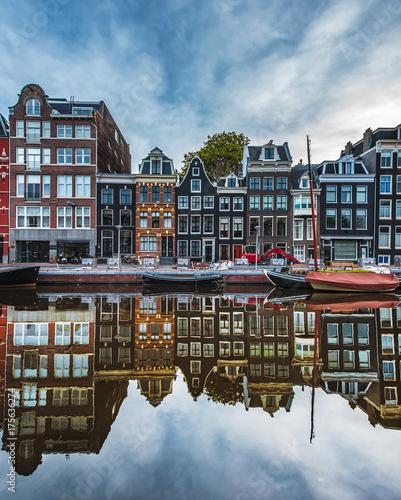 Foto op Aluminium Amsterdam Riflessi di Amsterdam