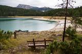 A beautiful mountain lake on a cloudy day. Black Lake Montenegro - 175636438