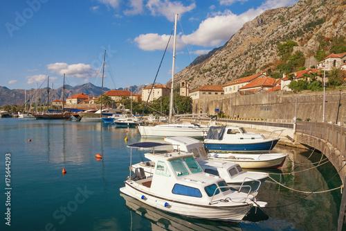 View of Old Town of Kotor and Boka Kotorska Bay. Montenegro