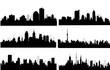 Modern City Skyline set - Vector