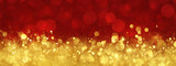 Red and gold abstract Christmas background - 175648477