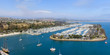 Dana Point, California. Panoramic aerial view