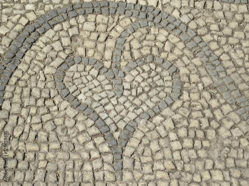 Deurstickers Stenen Heart mosaic