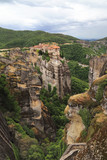 Monastery Varlaam, which was built in 1541 on the high rock, Meteora, Greece - 175664014