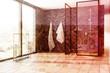 Marble bathroom, shower double - 175665626