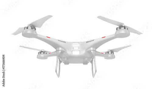 Delivery. Flying drone. 3d illustration