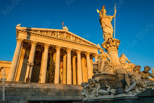 Parliament building in Vienna, Austria Poster