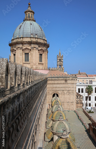 Fotobehang Palermo The Cathedral of Palermo on Sicily. Italy