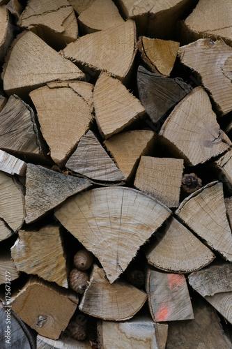 Spoed canvasdoek 2cm dik Brandhout textuur holz brennholz