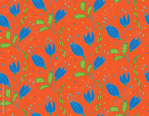 Floral Vector Pattern - 175678265