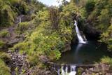 Waterfall on the road to Hana in Maui, Hawaii