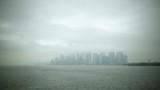 Shot of Manhattan island in fog - 175684690