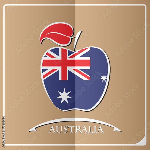 apple logo made from the flag of Australia - 175692684