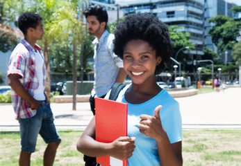 Successful african american female student