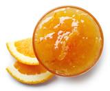Bowl of orange jam