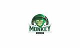 monkey, cigarette, emblem symbol icon vector logo - 175698243
