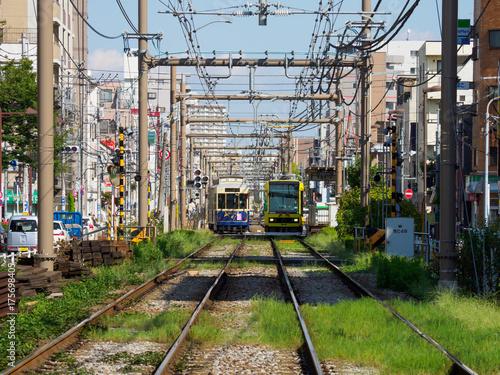 In de dag Spoorlijn 都電荒川線