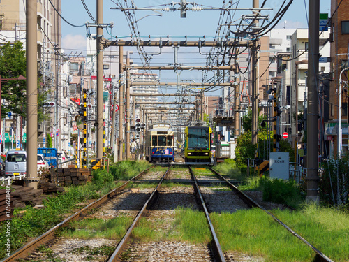 Staande foto Spoorlijn 都電荒川線