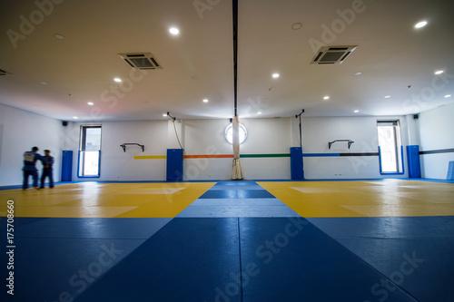 Judo training hall Poster